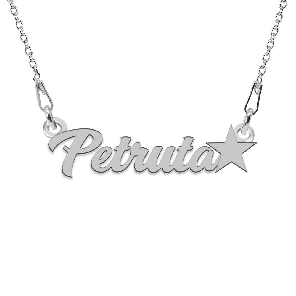 Colier Argint, Steluta, Nume Petruta , 45 cm poza 2021