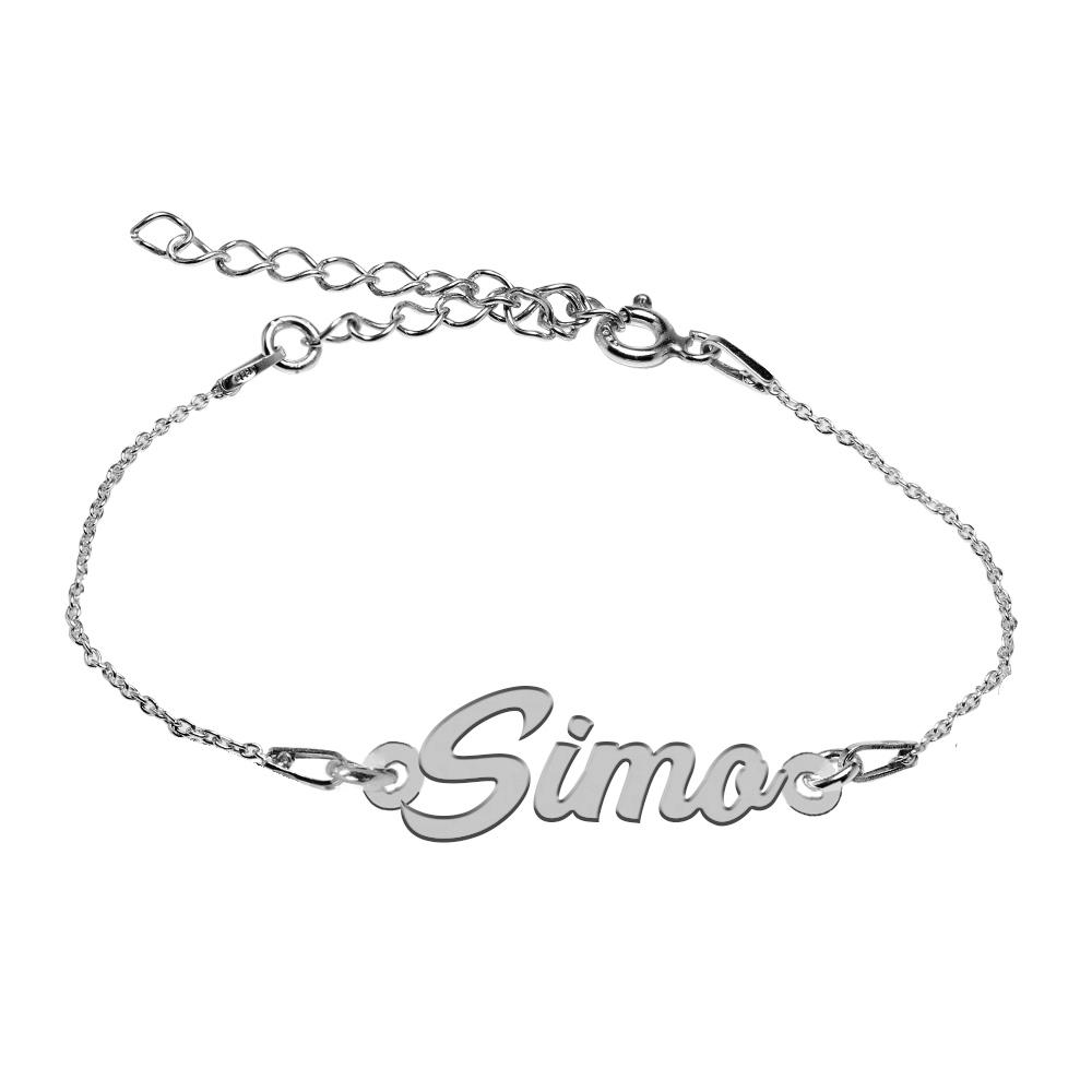 Bratara Argint 925, Nume Simo , BijuBOX, 15 + 4 cm