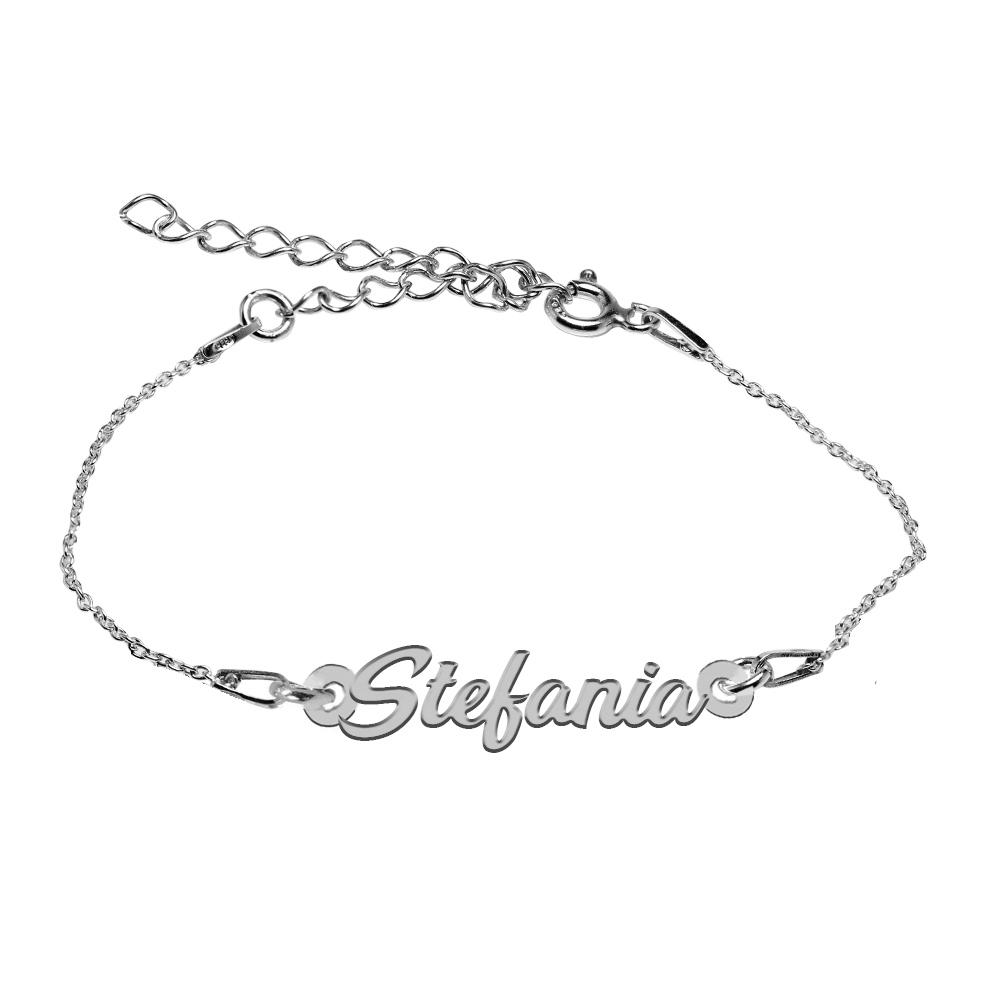 Bratara Argint 925, Nume Stefania , BijuBOX, 15 + 4 cm