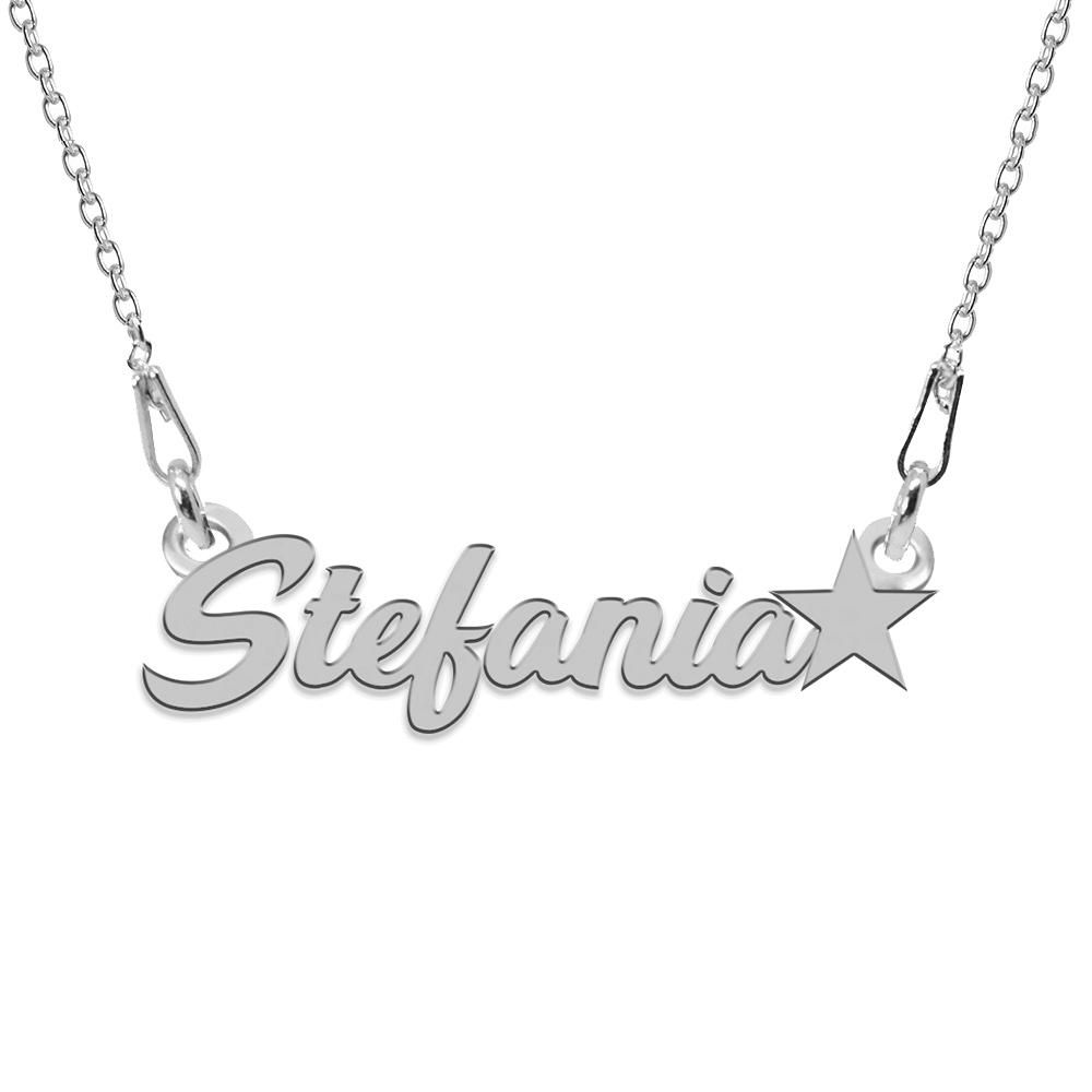 Colier Argint, Steluta, Nume Stefania , 45 cm poza 2021