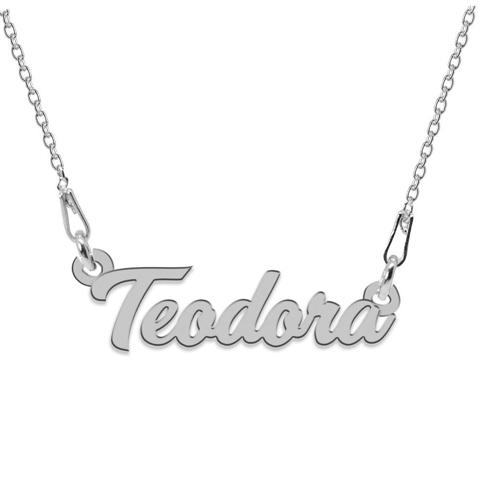 Colier Argint 925, Nume Teodora , 45 cm