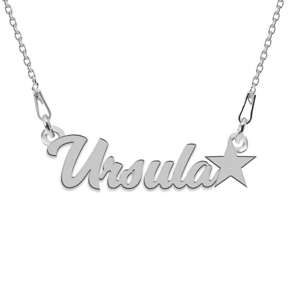 Colier Argint, Steluta, Nume Ursula , 45 cm poza 2021