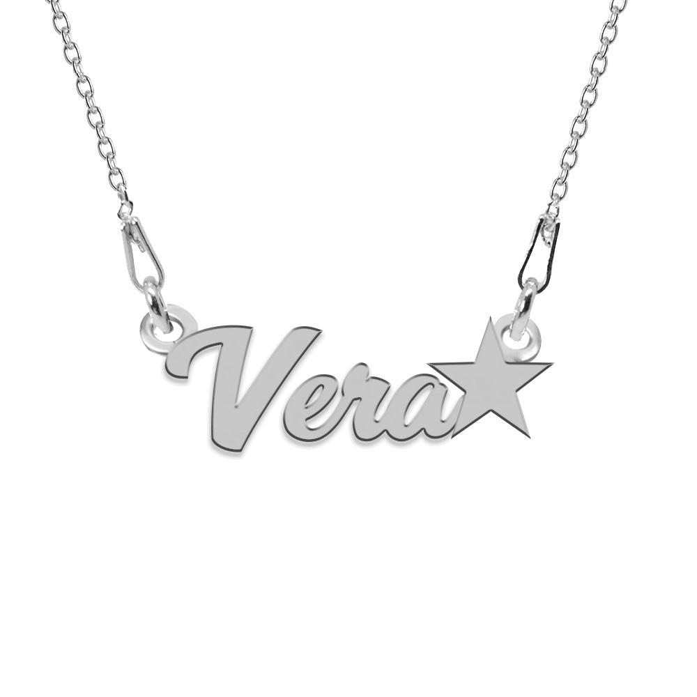 Colier Argint, Steluta, Nume Vera , 45 cm poza 2021
