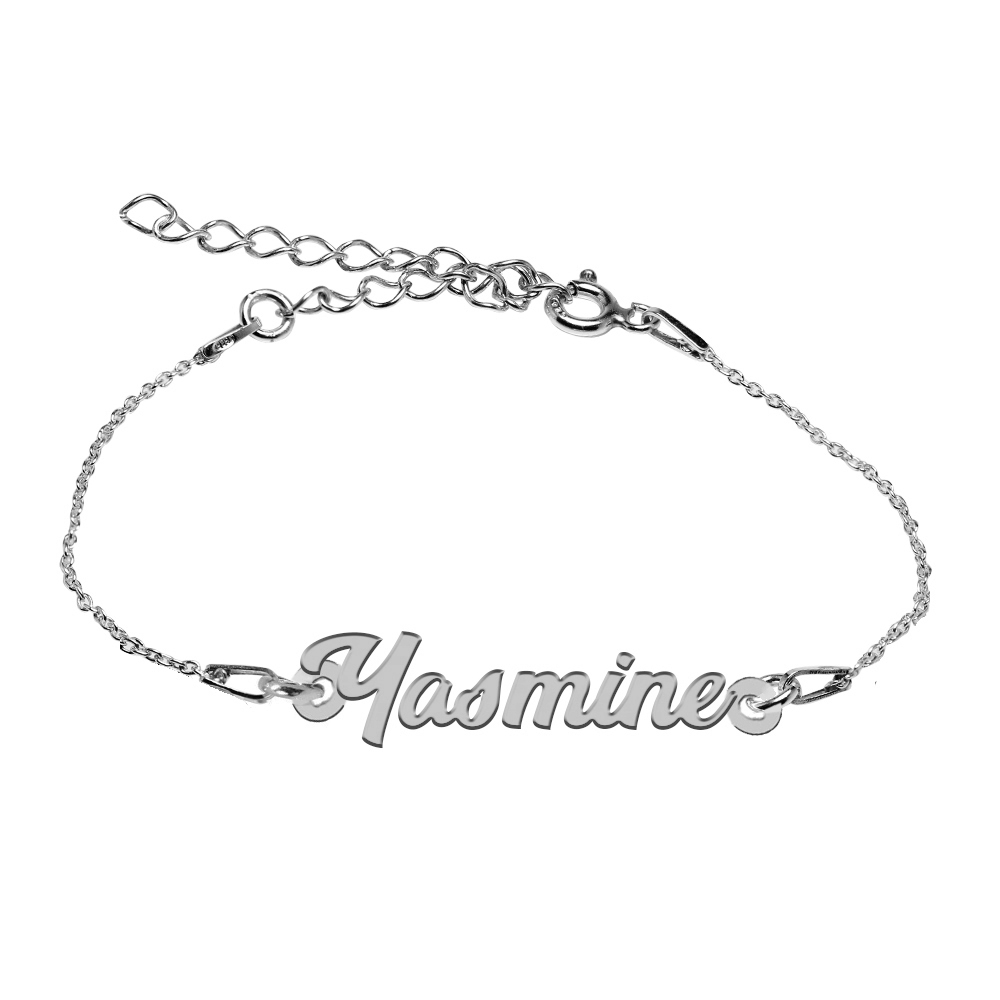 Bratara Argint 925, Nume Yasmine , BijuBOX, 15 + 4 cm poza 2021