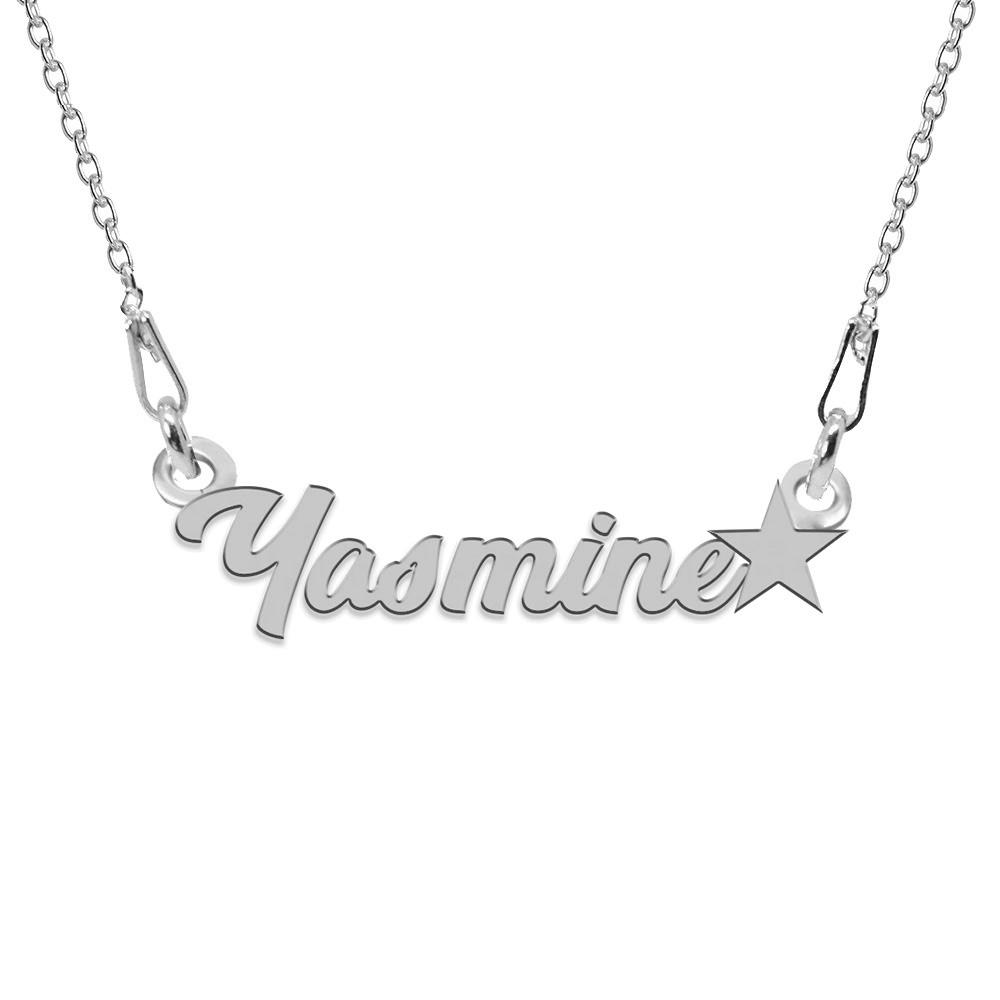 Colier Argint, Steluta, Nume Yasmine , 45 cm