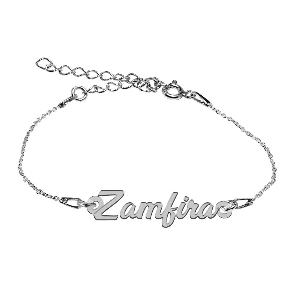 Bratara Argint 925, Nume Zamfira , BijuBOX, 15 + 4 cm poza 2021