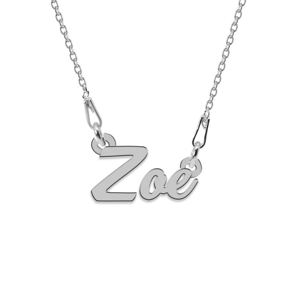 Colier Argint 925, Nume Zoe , 45 cm